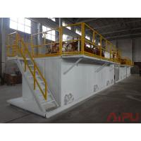 Quality Oilfield well drilling rectangular mud tanks for sale at Aipu solids control for sale