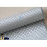 Quality Silver Coated Fabric Aluminized Fiberglass Cloth 6.5OZ 0.2MM 260℃ Checked for sale