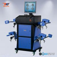 Quality Wide Angle Blue CCD Wheel Aligner Automatic Machine With Wireless Communication System for sale