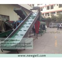 Quality label stripping machine,plastic bottle label stripper equipment,conveyor and label remover for sale