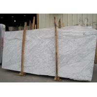 Quality External  Wall Cladding Carrara White Marble Slab , Big Marble Garden Slabs for sale