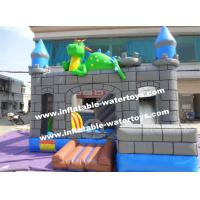 Quality 0.55mm PVC Kids Blow Up Water Slides , Toddler Inflatable Bouncer for sale