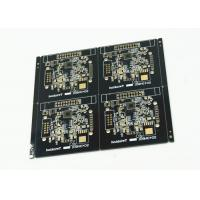 Quality Black Soldered Multilayer PCB White Legend 4 Pcs Arrayed Gold Finish for sale