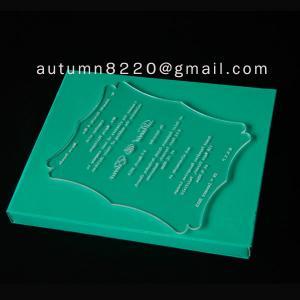 Quality ICB (4) unnormal wedding invitation plastic for sale