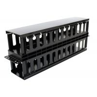 Quality Plastic Dual Sided Finger Duct Cable Management , Horizontal Rack Mount Brush Panel for sale
