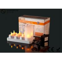 Quality 4set / 6set / 8set / 12set Rechargeable Tea Lights With Remote Control for sale