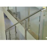Quality balustrade posts stainless steel tempered glass railing Balustrade Post Tempered Glass Railing for sale