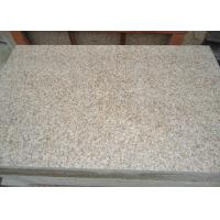 Quality Honed surface G682 sunset gold granite stone tiles, rusty yellow stone floor for sale
