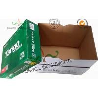 Quality Corrugated Cardboard packaging Office Paper Box With Handle Practical Essential B Flute for sale