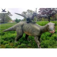 Quality Dinosaur Replicas Life Size , Dinosaur Garden Sculpture For Forest Playground Decoration for sale