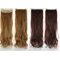 Quality Colored Clip In Synthetic Hair Extensions Fake Hair Wigs For White Women for sale