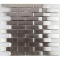 Quality 3d Arch Stainless Steel Mosaic Tile Backsplash , Stainless Steel Kitchen Tiles 8mm Thick for sale