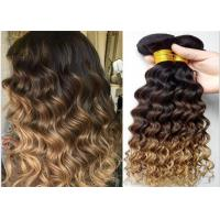 Quality 7A Grade Real Ombre Human Hair Extensions , Deep Wave Ombre Real Hair Extensions Two Tone for sale