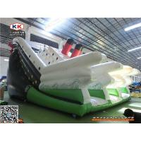 Buy cheap White PVC Giant Brainstorm Inflatable Pool Slide With Titanic Theme from wholesalers