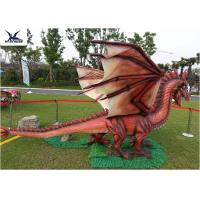 Quality Amusement Equipment Dinosaur Lawn Statue Facility Lawn Artificial Dragon Statues for sale