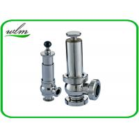 Quality Intelligent Sanitary Pressure Relief Valve For Pipeline System Protection for sale