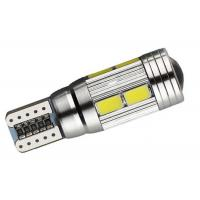 Quality Wedge Side 5630 SMD T10 W5W Car LED Bulbs , Park LED Tail Light Bulbs for sale
