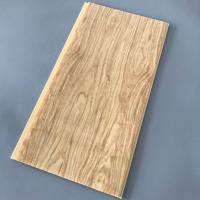 Quality Yellow Wood Pvc Panel For Ceiling Decorative 25cm Width OEM / ODM Available for sale
