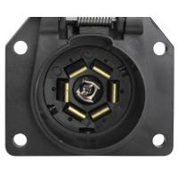 Quality 7 Way Trailer Electrical Socket 7 Blade Trailer Connector With Cover for sale