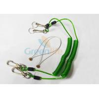 Quality Green Tool Safety Lanyards , Plastic Coiled Lanyard Cord For Scaffolding for sale