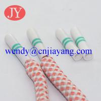 Buy Custom color and Rolling pring logo custom logo plastic aglet for garment hoodies cord at wholesale prices