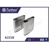 Quality Pedestrian Access Control Flap Barrier Gate / Office Security Gates High Speed for sale