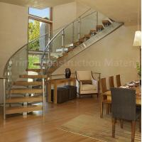 Quality Internal residential glass treads curved staircase for sale