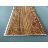 Quality Waterproof Wooden Color Decorative PVC Panels Easy Cleaning And Maintenance for sale