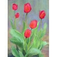 Quality flower painting group wall picture callalily for sale