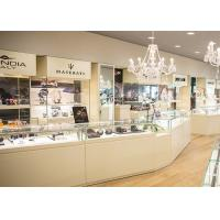 Quality Durable White Coating Custom Jewelry Display Cases / Retail Display Cases for sale
