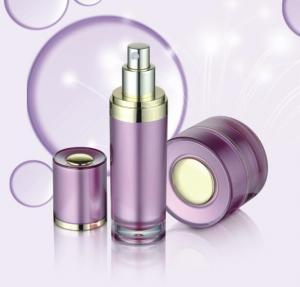 Quality China Supplier 15ml 30ml 50ml 120ml cosmetic acrylic jar waist slim shape pump plastic bottle for sale