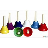 Quality Orff Toy Music Instrument , Colorful 8 Note Hand Bell Set for sale