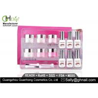 Quality Crack / Chip Resistant Acrylic Nail Dip Kit French Manicure Environment Friendly for sale