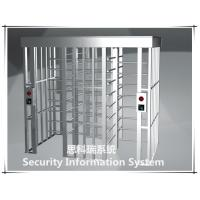 Buy RFID time attendance 304stainless steel full height turnstile gate for factory,stadium access at wholesale prices