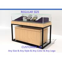 Buy Luxury Retail Shop Wood Glass Jewelry Display Counter With Light at wholesale prices