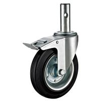 Quality Mobile Adjustable Scaffold Wheels , Rollerblade Scaffold Tower Casters for sale