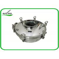 Sight Glass Stainless Steel Manhole Cover High Pressure Elliptical Shaped