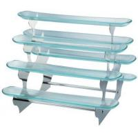 Buy cheap SCC A-136 Stainless Steel+Glass Riser Buffet Display Stand/Shelf from wholesalers
