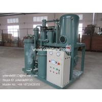Quality Vacuum Used Lubricant oil filtering machine | Lube oil water separator plant for sale