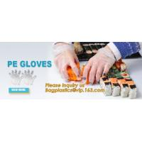 China Disposable PE elbow length gauntlets gloves,disposable plastic PE glove with high quality for medical glove bagplastics on sale