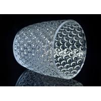 Buy Embossed Nail Design Glass Candle Holder Christmas Deco Glass Candle Jars at wholesale prices