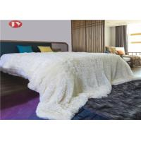 China Shaggy Faux Throw Plush Fur Blanket Pure Color Plain Micro Long Pile Supersoft Ultra Plush on sale
