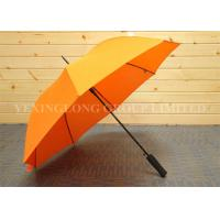 Quality Bright Orange Color Metal Straight Handle Umbrella Junior Golf Umbrella Manual Open for sale