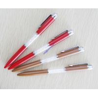 China crystal diamond metal pen,printed gift logo ball point pen on sale