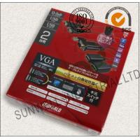 Quality Eco Friendly USB Electronics Packaging Boxes Courragate / Art Paper Hot Stamping for sale