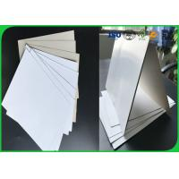 Quality 450g Tear Resistant Coated Duplex Paper Rolls For Printing , C1S Grey Paper for sale