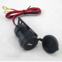 Quality 12V-24V Waterproof USB Charger cable 2.1A Black For Motorcycles for sale