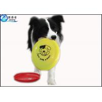 Quality OEM Pets Products Plastic Dog Frisbee , Dedicated Pet Toys Big Dogs Bite Resistant Flying Disc for sale