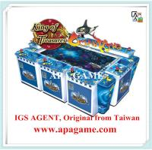 Quality IGS Original fish hunter King of treasure ocean kIng 8P arcade fishing hunter game machine for sale