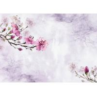 Quality Plum Flower Pattern 3D Bamboo Wall Panels , TV Background Fiber Wall Panels for sale